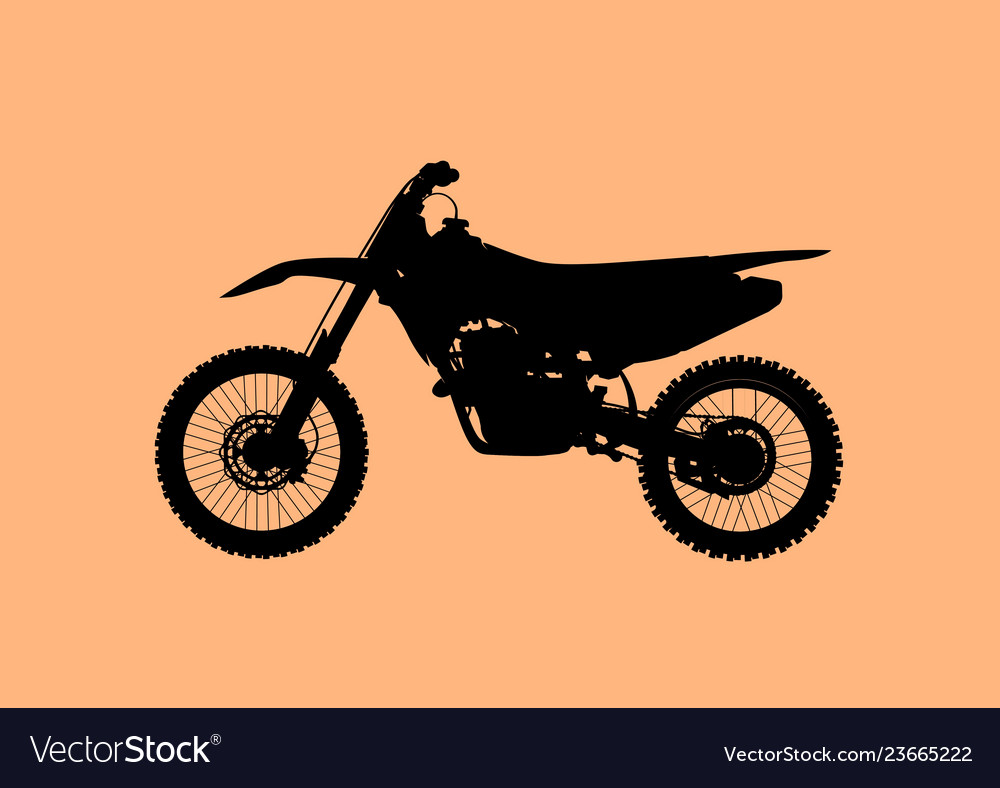 Sport fast motocross bike model icon