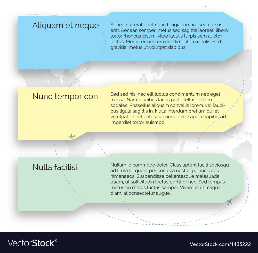 Template set infographic elements