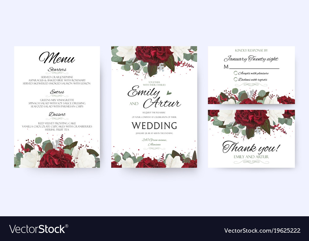 Wedding invite save the date rsvp card design