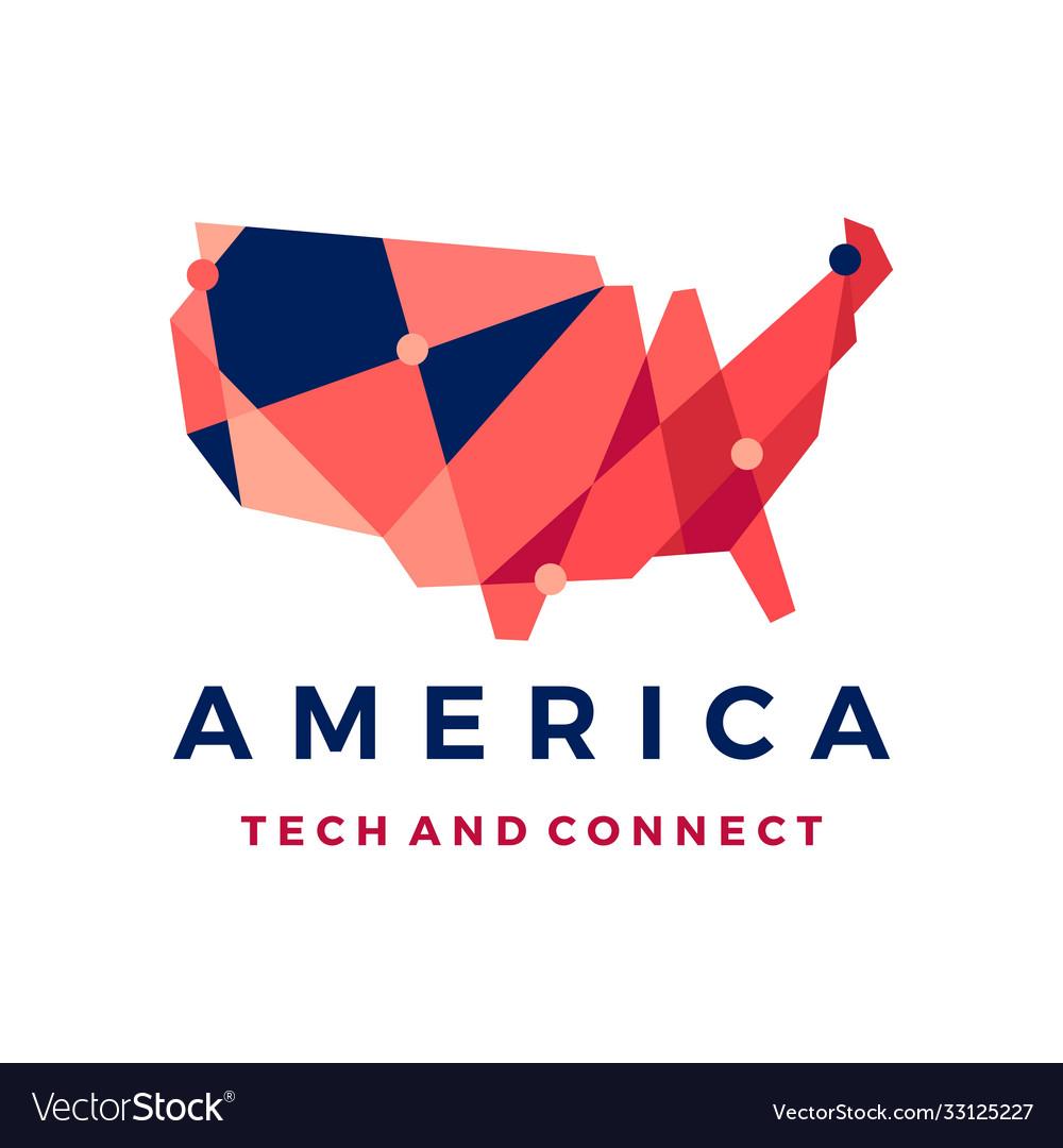 America tech connection logo icon