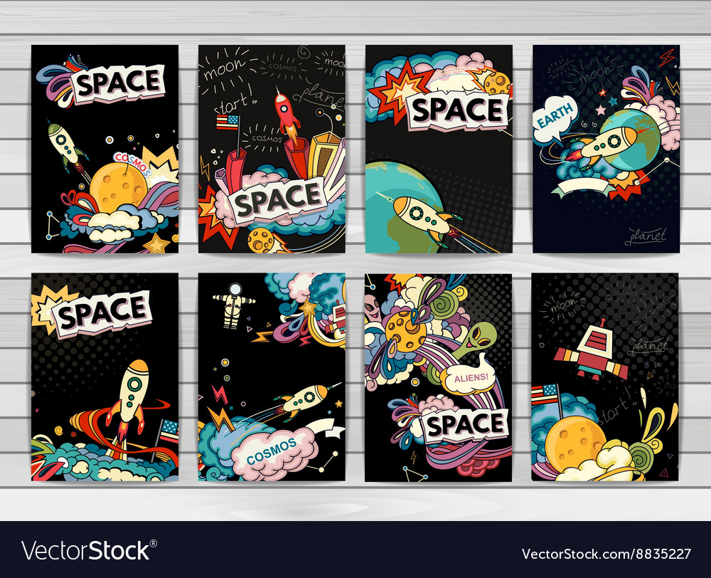 Banner of cosmos vector image