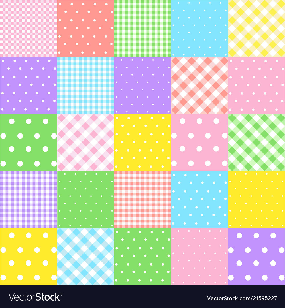 Colorful seamless patterns for baby style