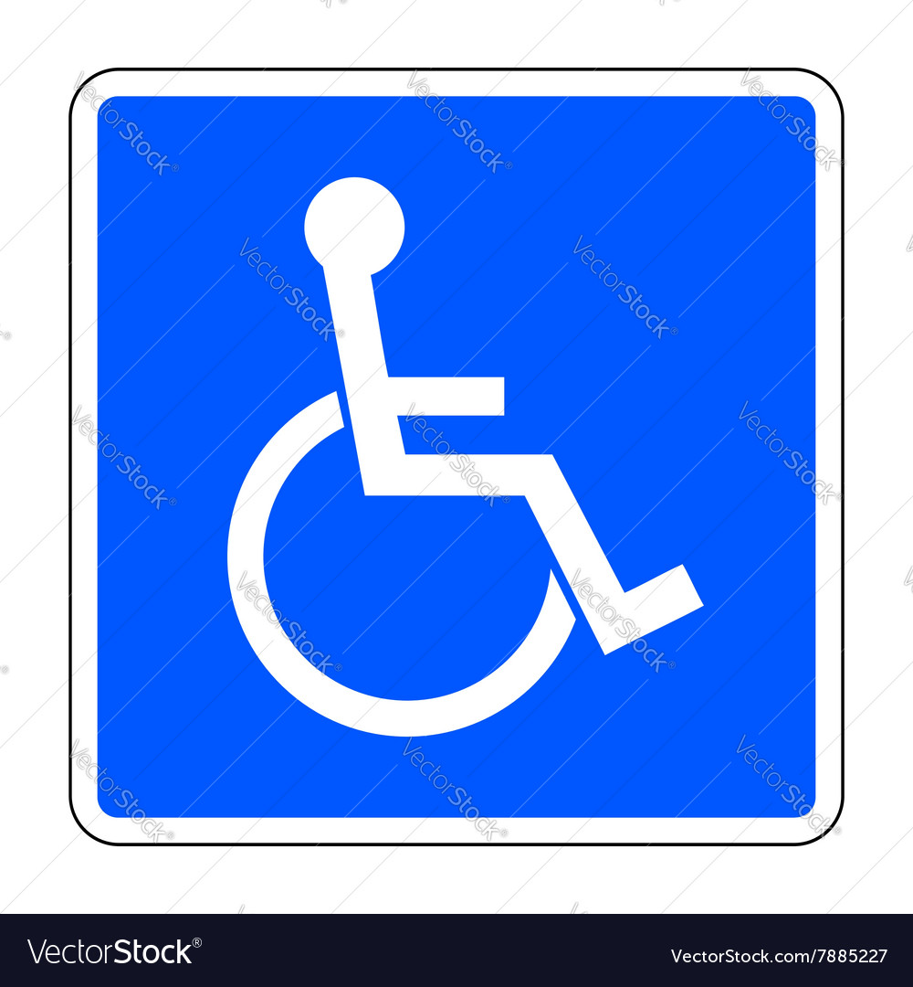 Disabled blue sign vector image