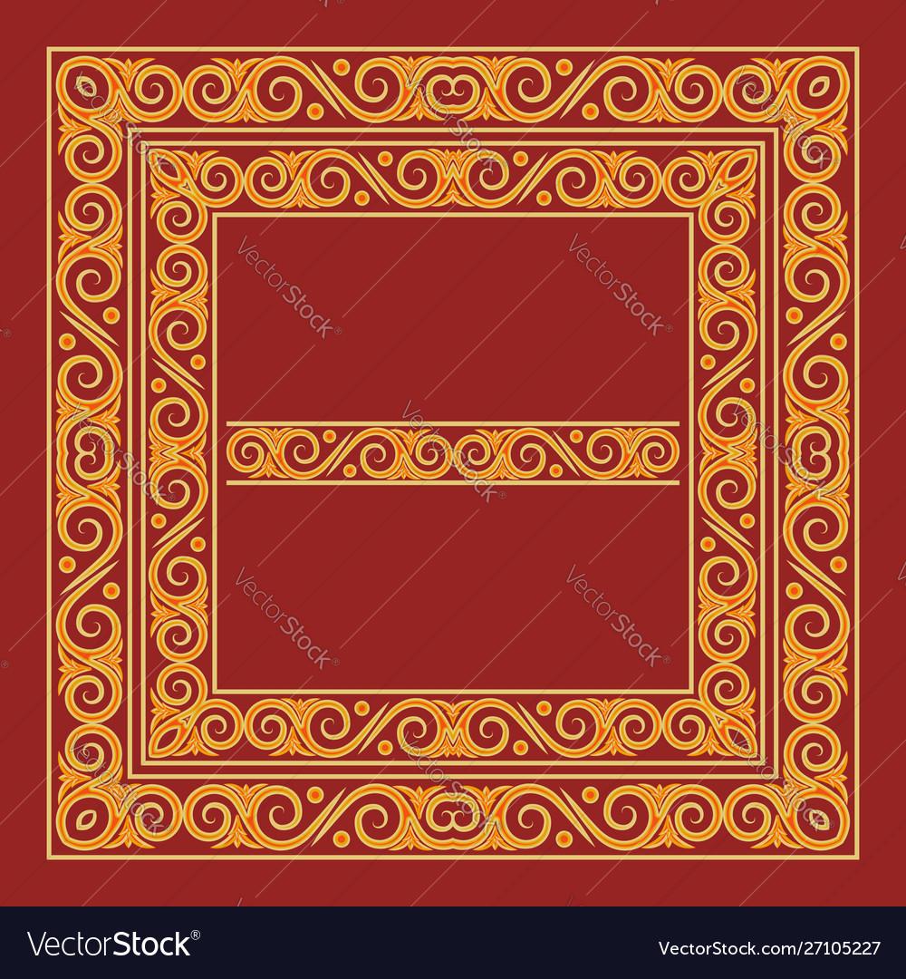 Byzantine Style Artistic Vector Image