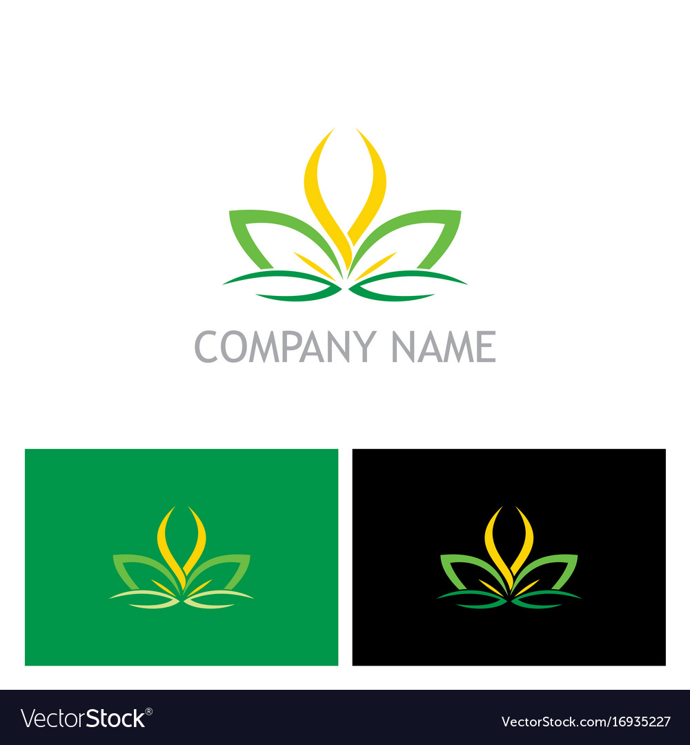 Lotus flower abstract beauty spa logo