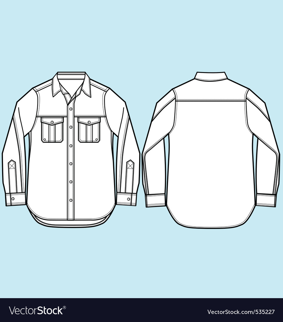 Men formal shirt design vector image