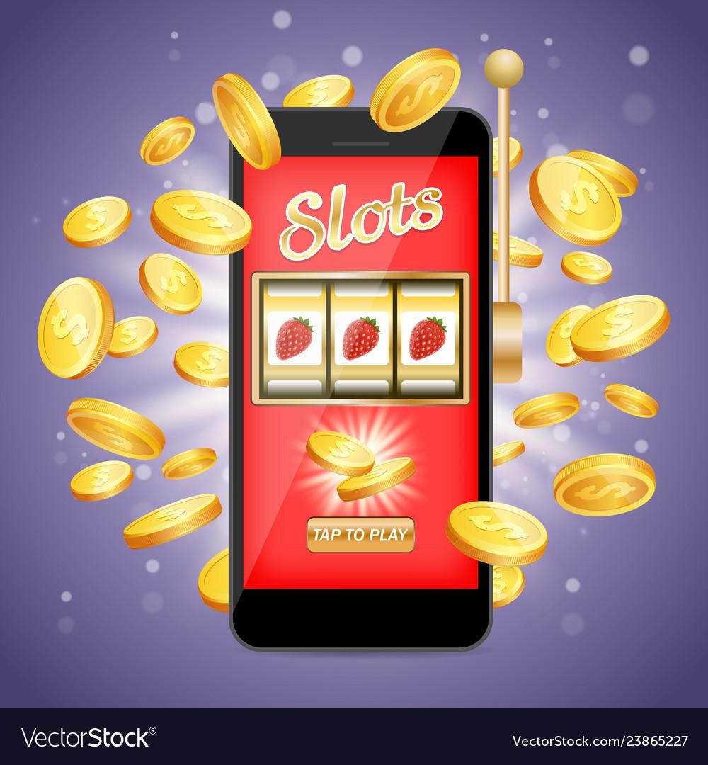 Mobile slots poster banner design template