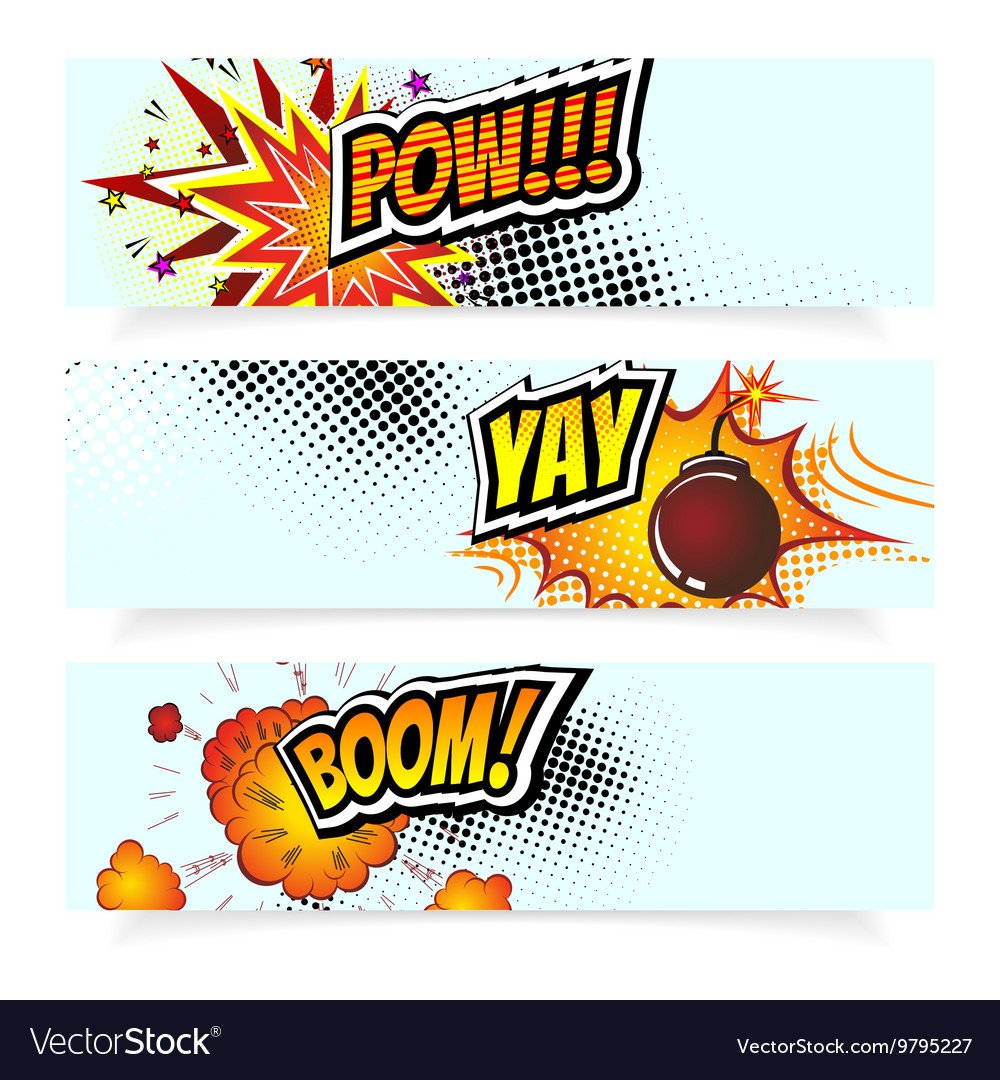 Pop Art Comic Book Design vector image
