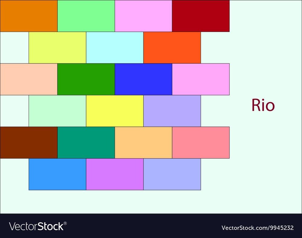 Colored bricks vector image