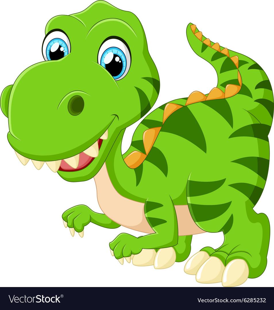 Image of: Rawr Cute Dinosaur Cartoon Vector Image Vectorstock Cute Dinosaur Cartoon Royalty Free Vector Image