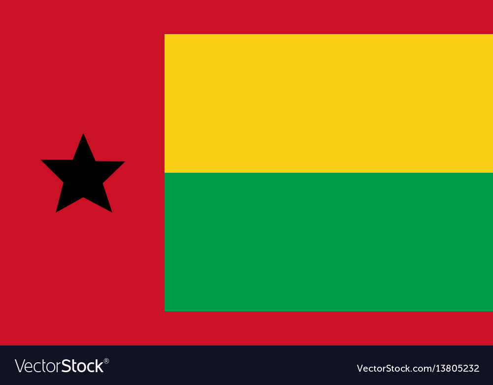 Guinea bissau flag for independence day and vector image