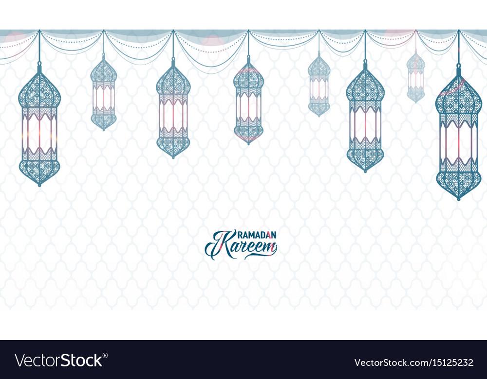 Horizontal ramadan kareem