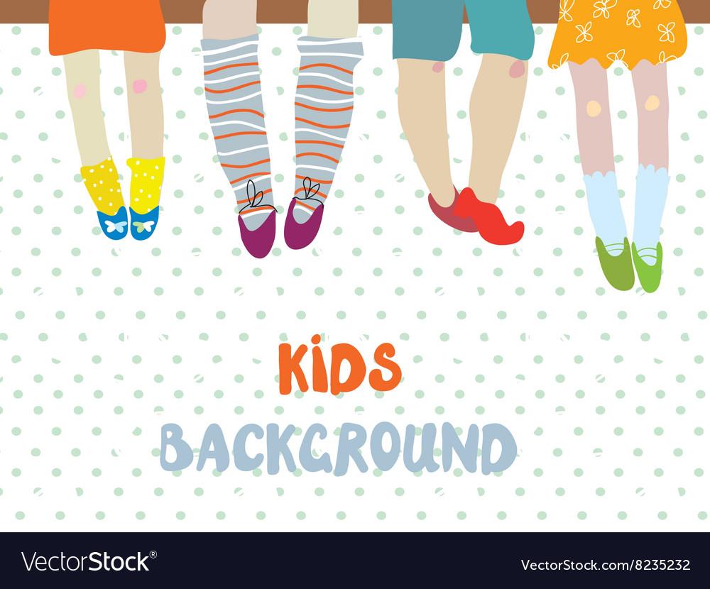 Kids background for kindergarten banner or card