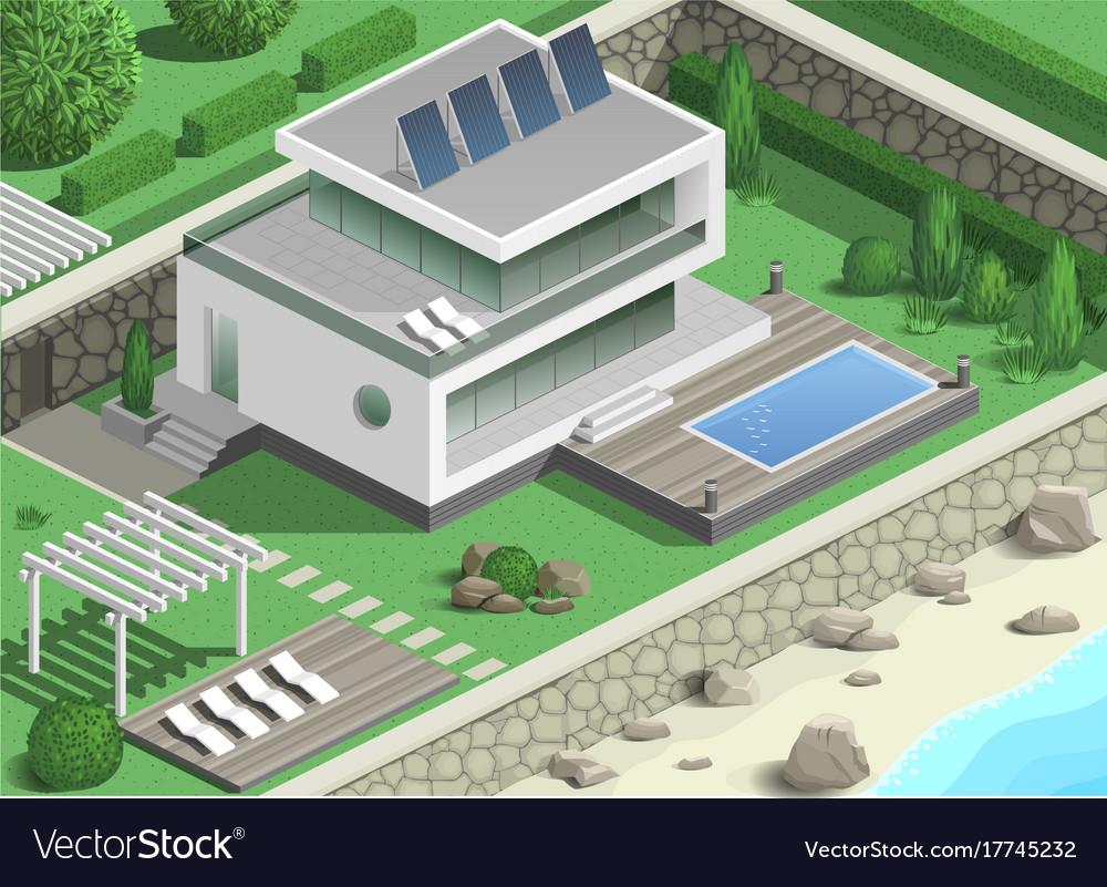 Modern villa on the coast