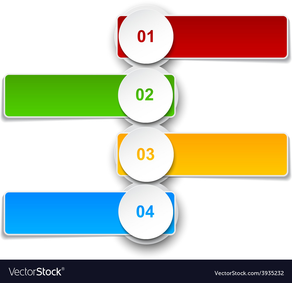 Numbered infographics list design vector image