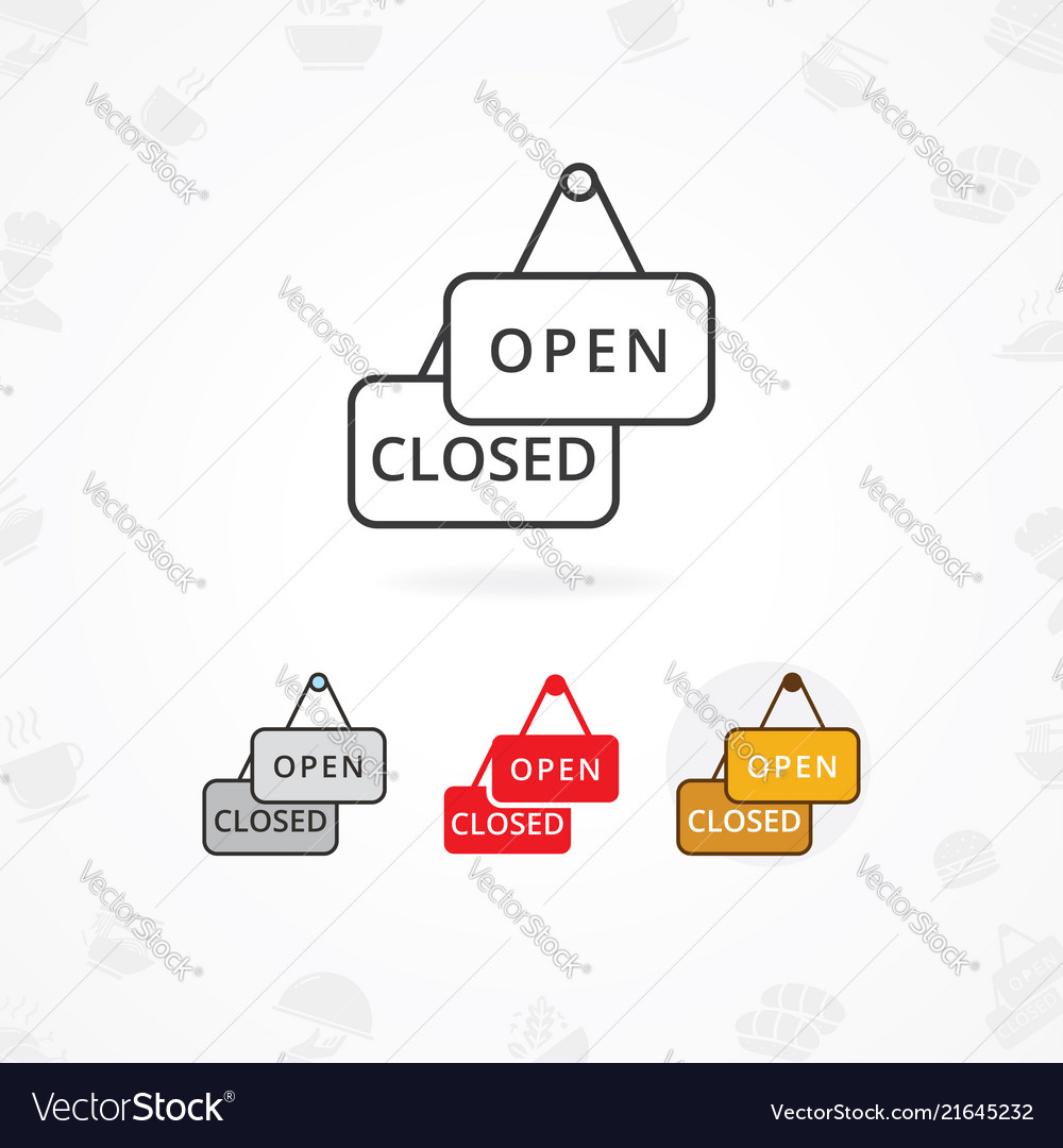 Open and closed sign icon