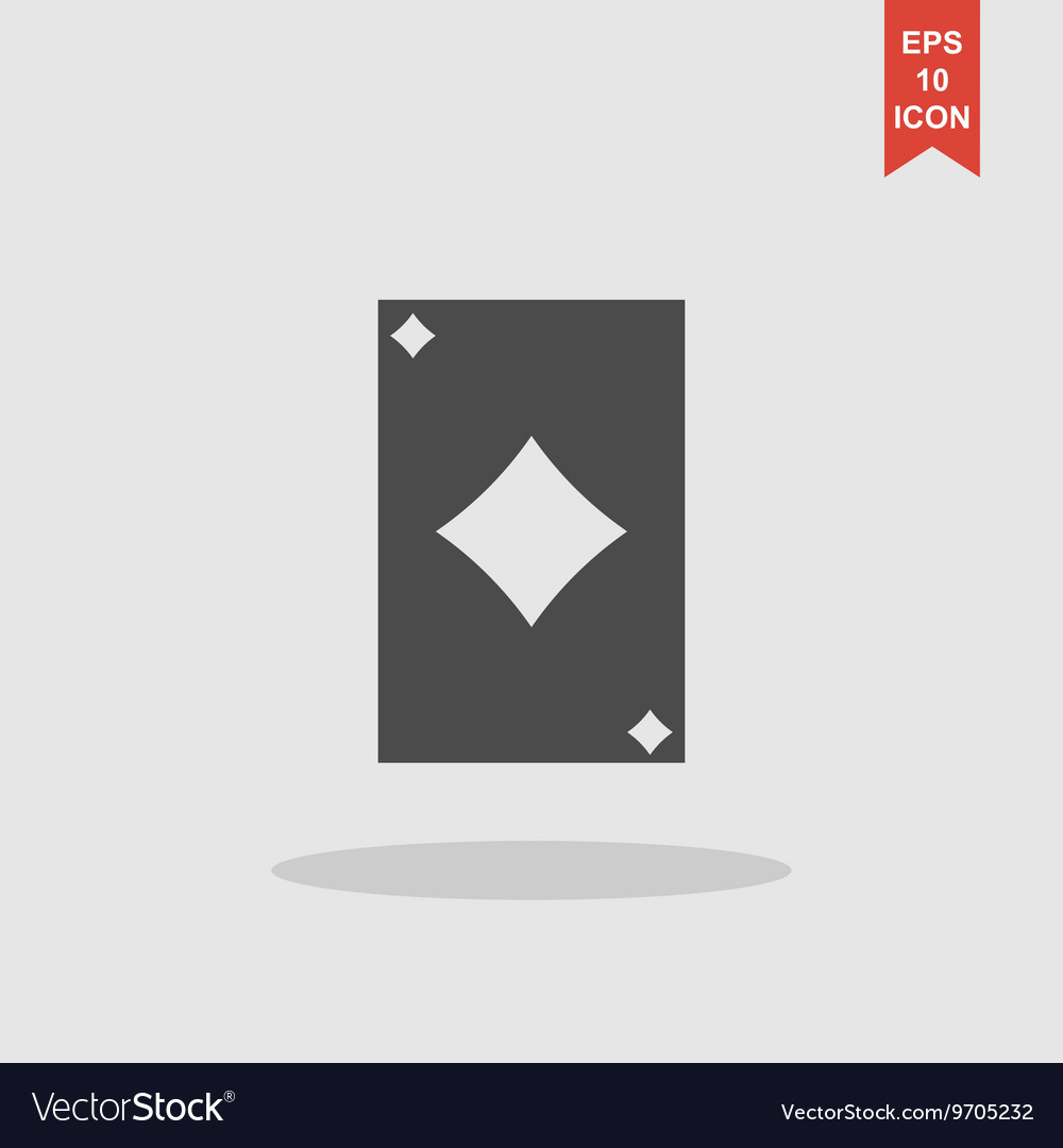 Playing Card Suit Icon Symbol Set