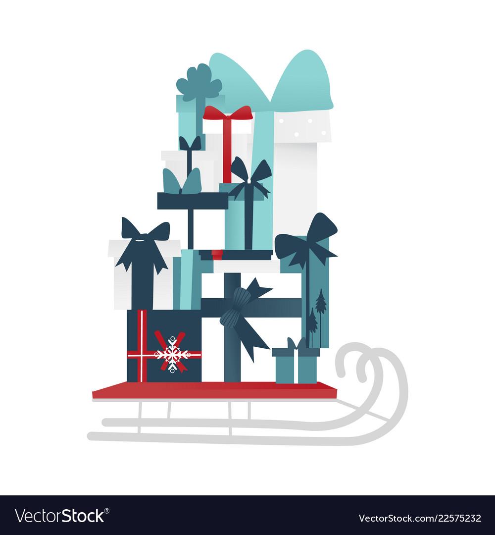 Santa claus christmas holiday sleigh icon