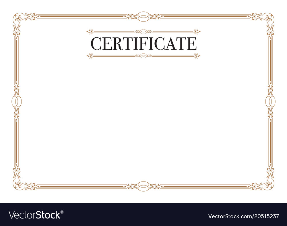 Certificate border for excellence performance Vector Image