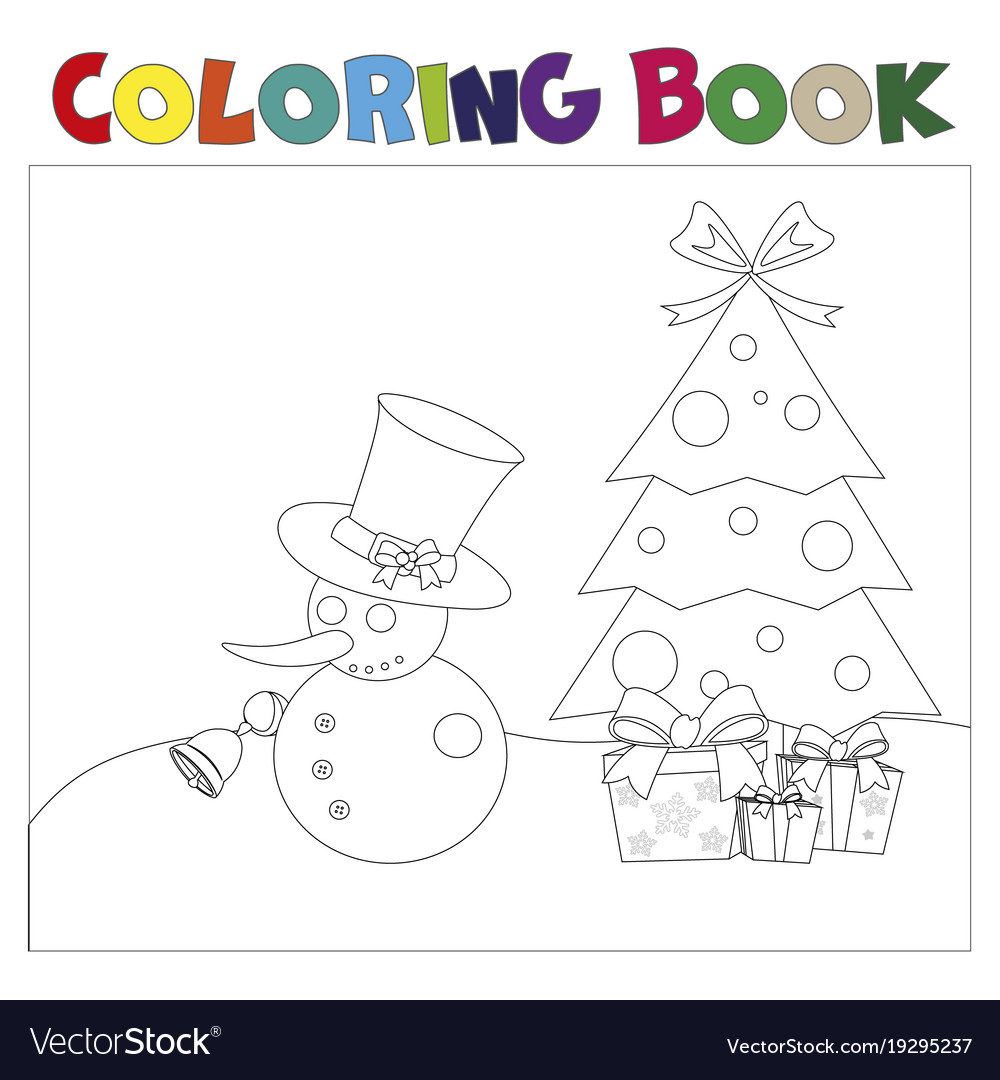 Coloring book christmas thematics