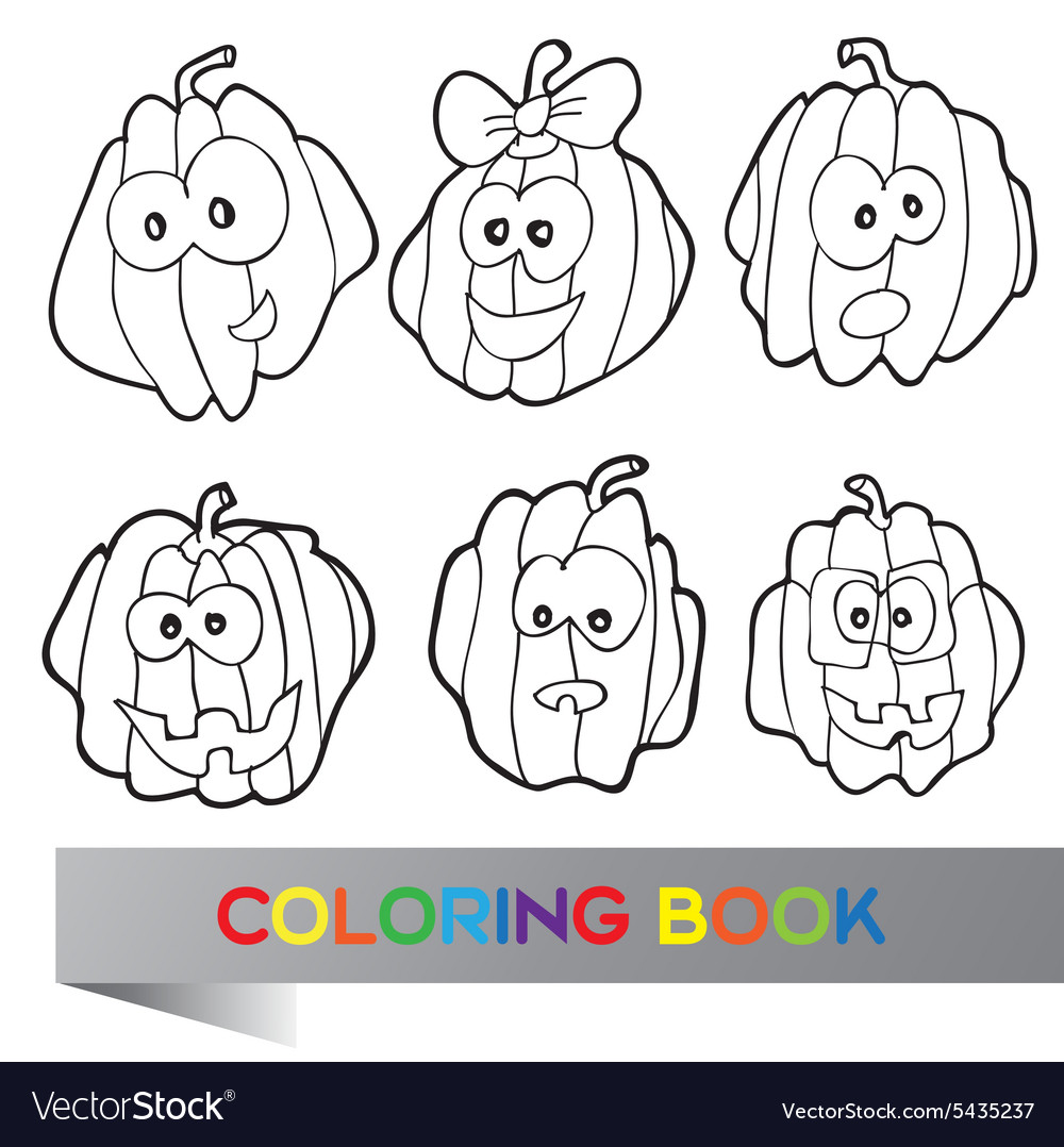 - Halloween - Coloring Book Royalty Free Vector Image
