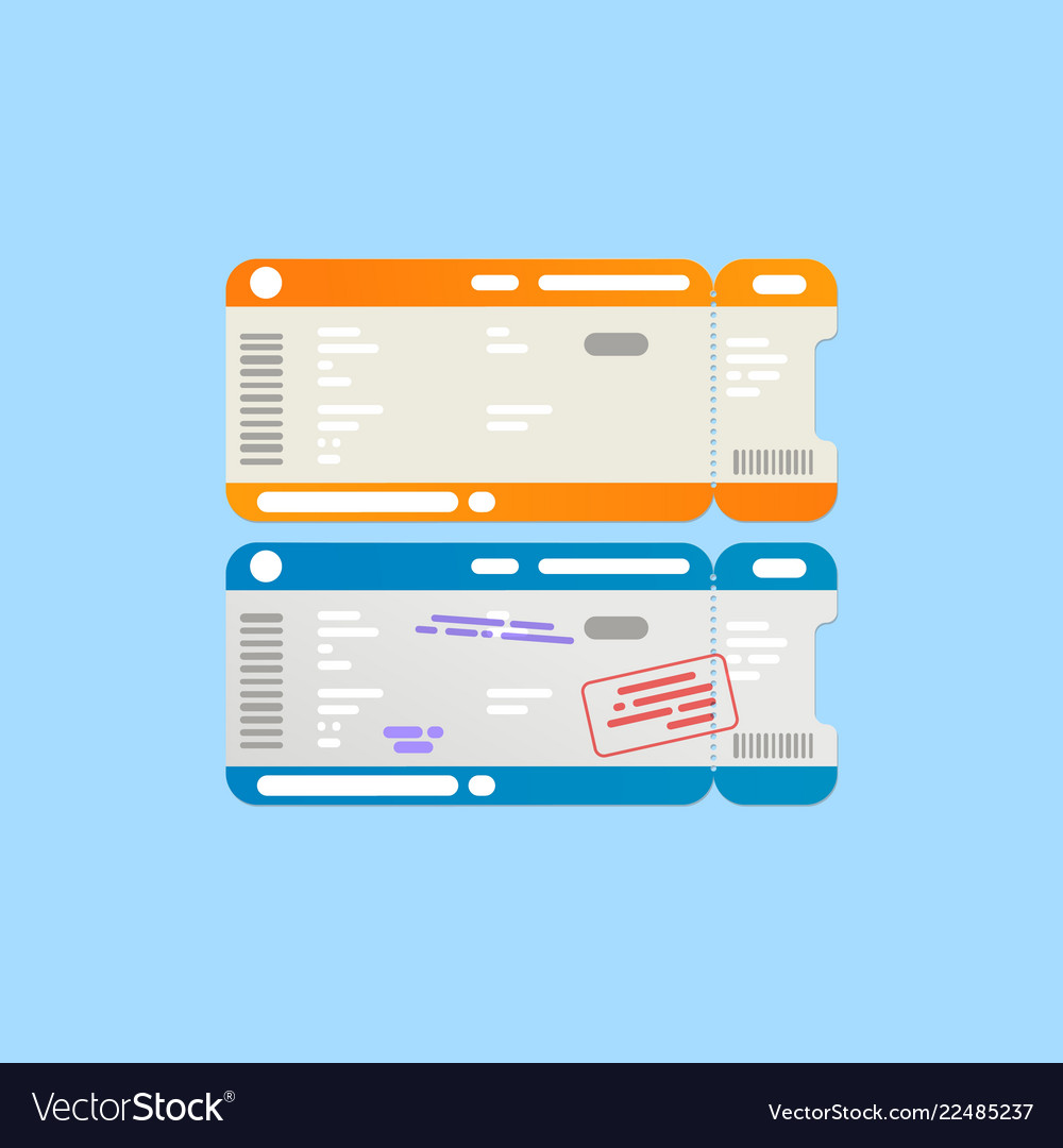 Isolated abstract airline travel boarding