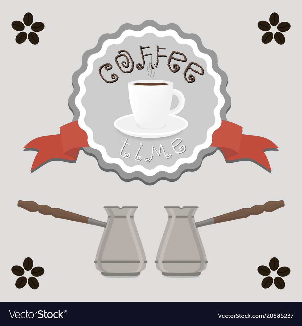 Logo for white ceramic cup of hot