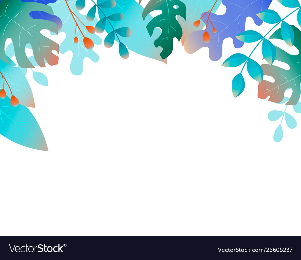 Plants and fanrasy leaves - background for banners