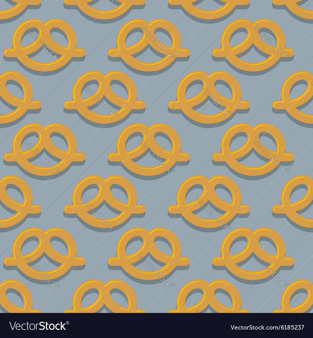 Pretzel seamless pattern Beer snack background