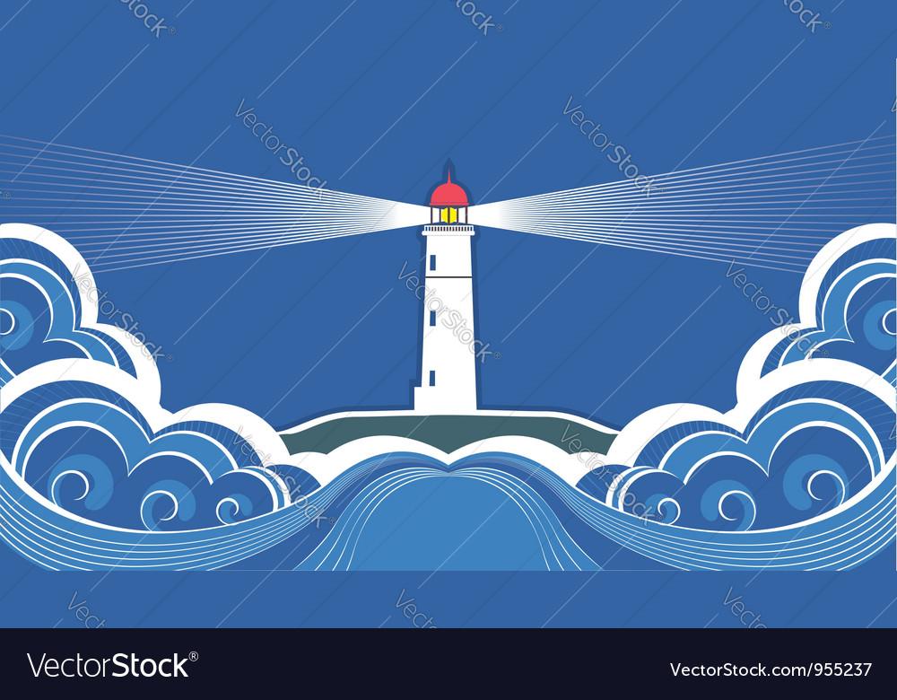Sea lighthouse symbol