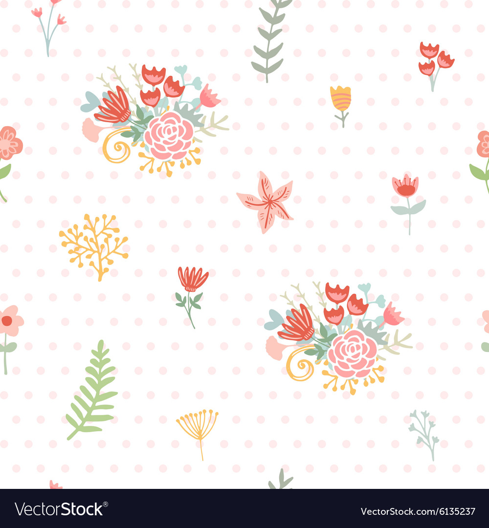 Wedding floral seamless background vector image