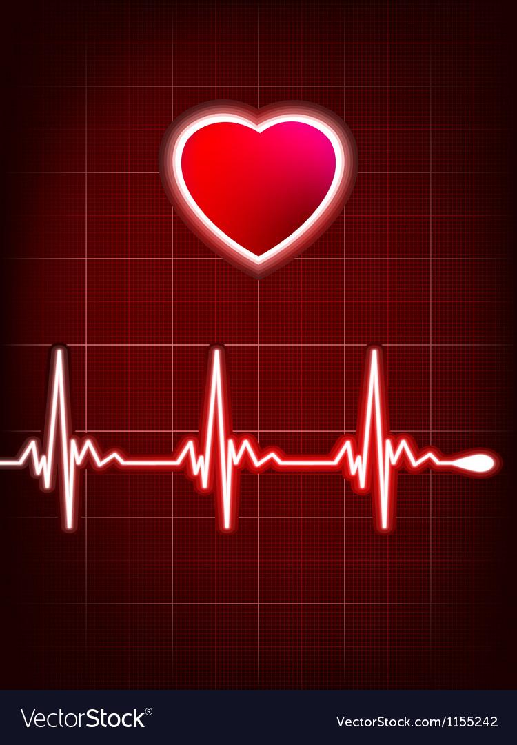 Abstract heart beats cardiogram EPS 8