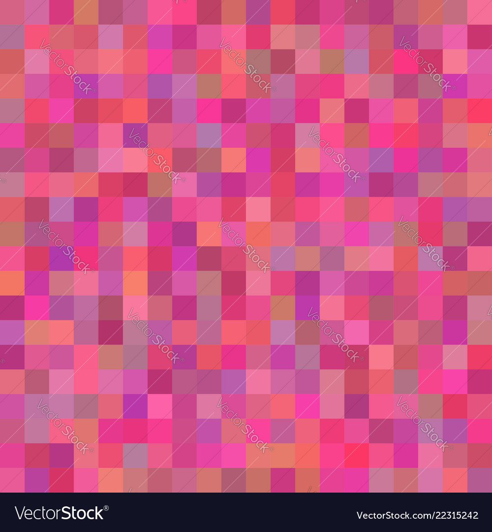Background of art colored pink squares mosaic