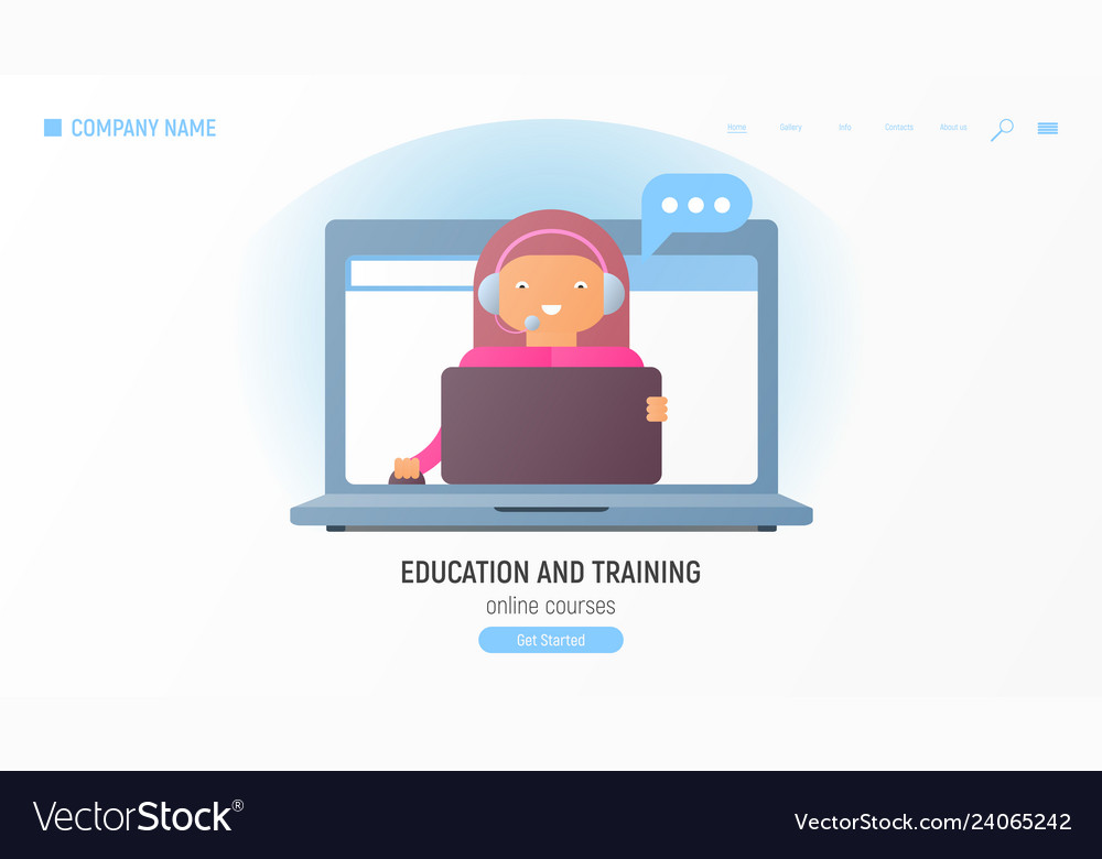 Education and training online courses concept