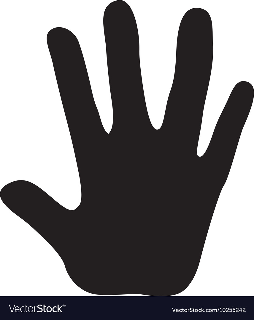 Hand finger open palm icon