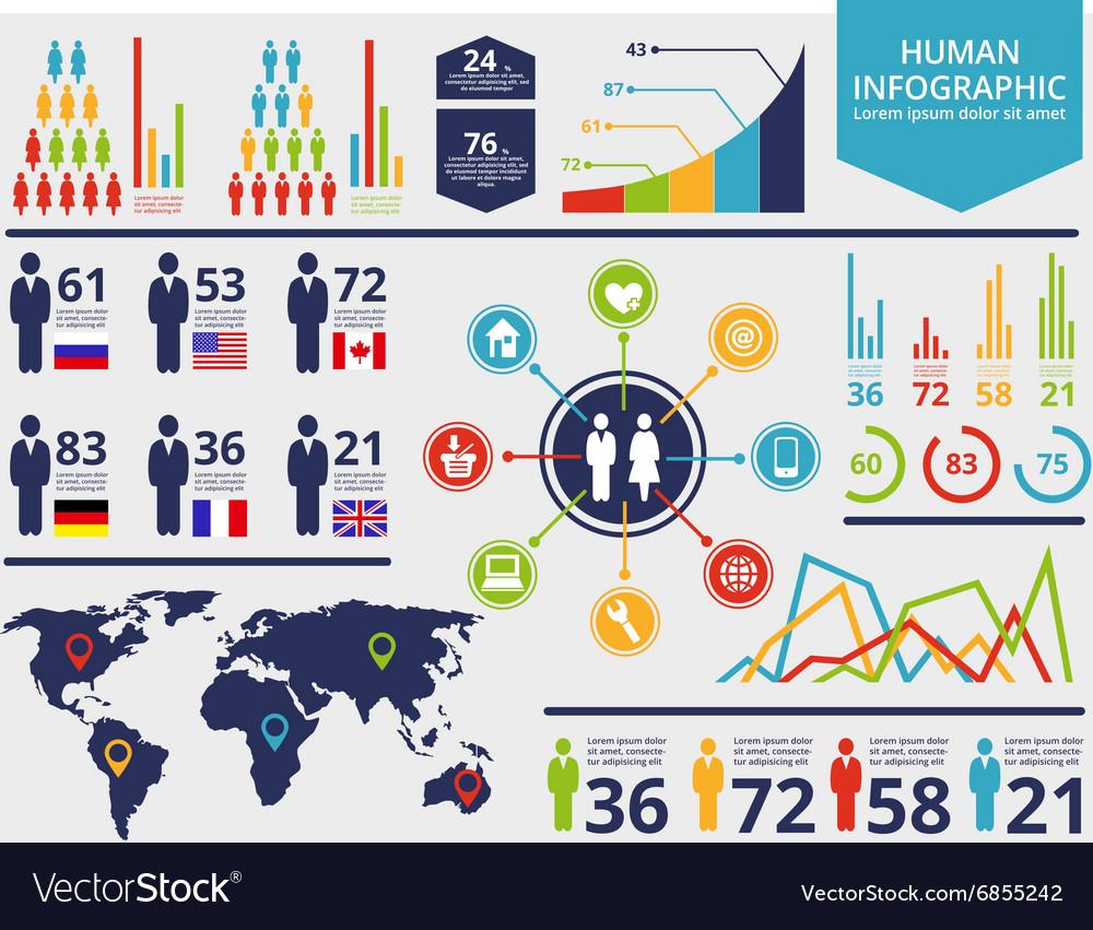 HumanGraph vector image