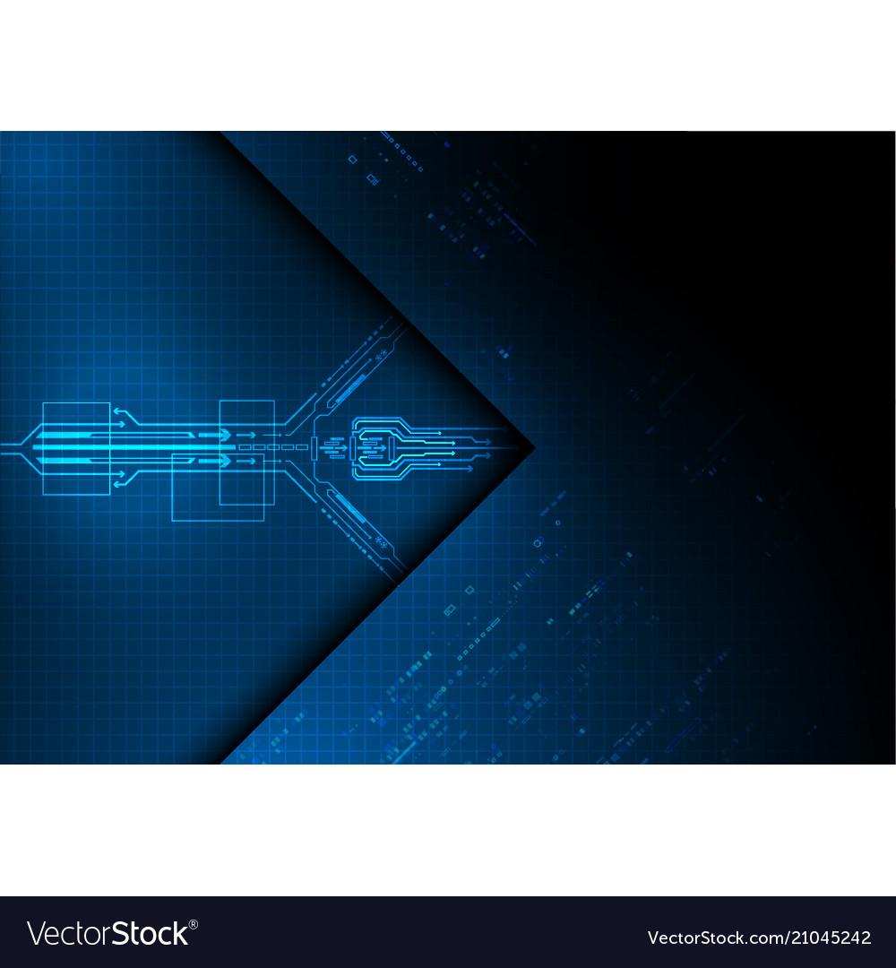 Light blue circuit technology background