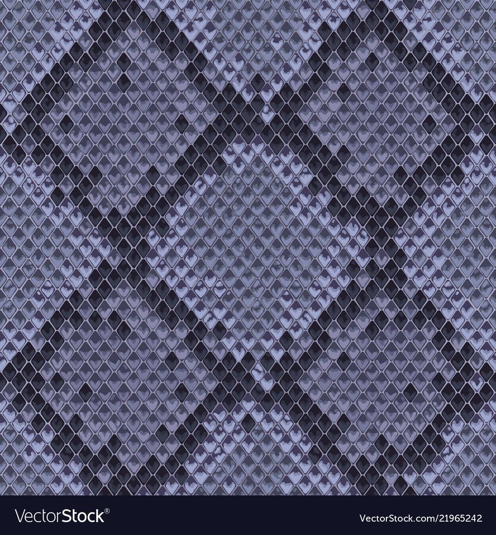 Snake skin colorful animal blue seamless pattern