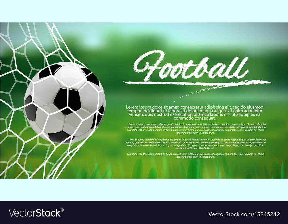 Soccer or football ball on green background