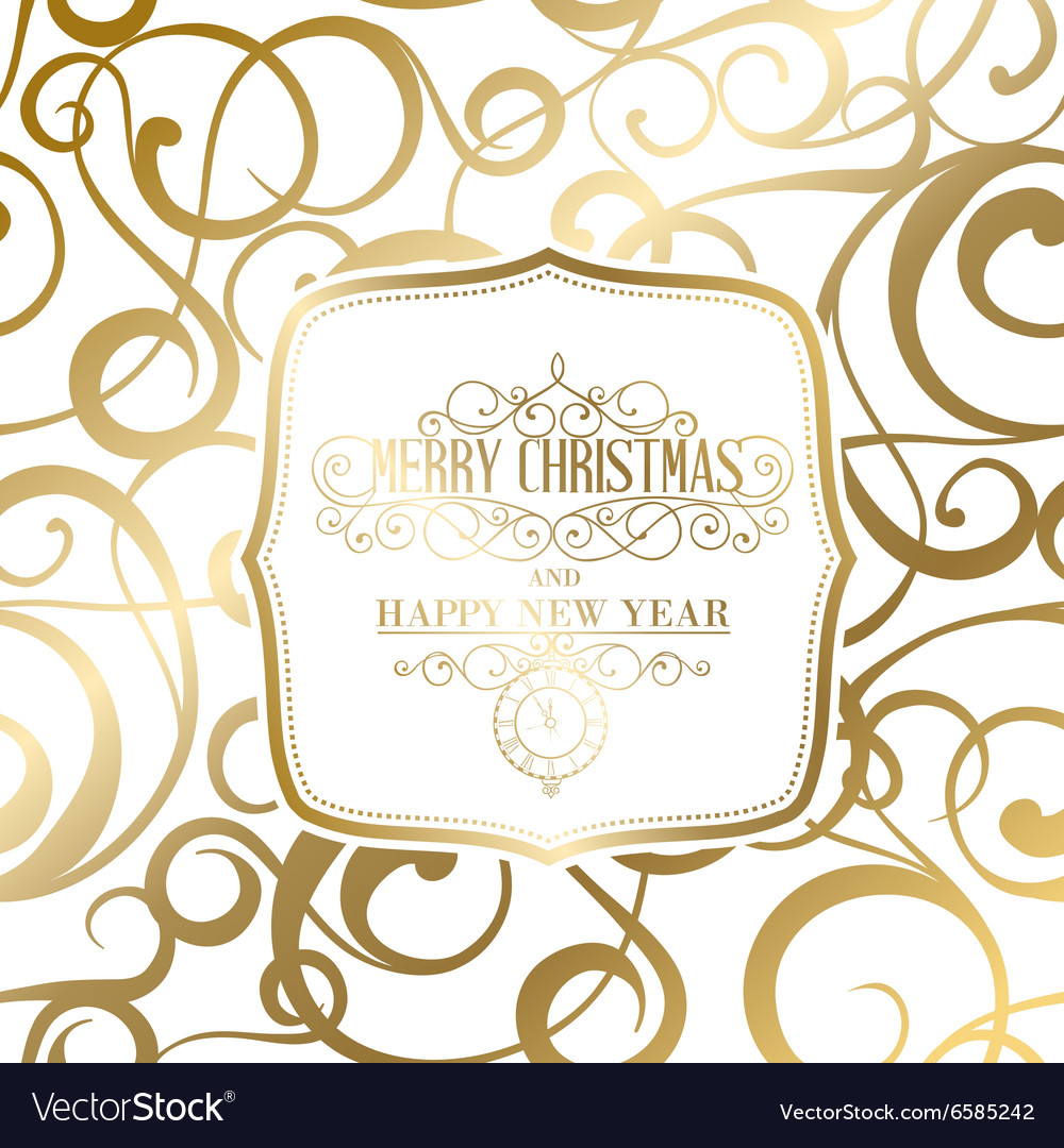 The happy new year card Royalty Free Vector Image