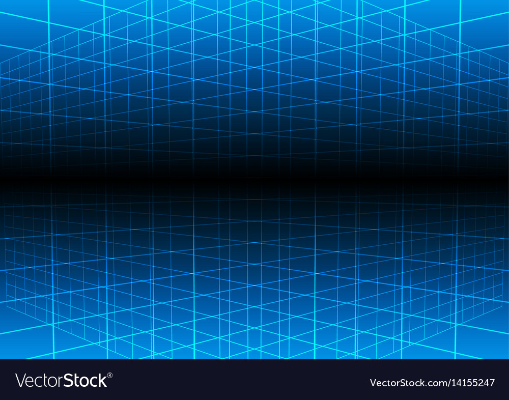 Blue Grid Light Technology Background Royalty Free Vector