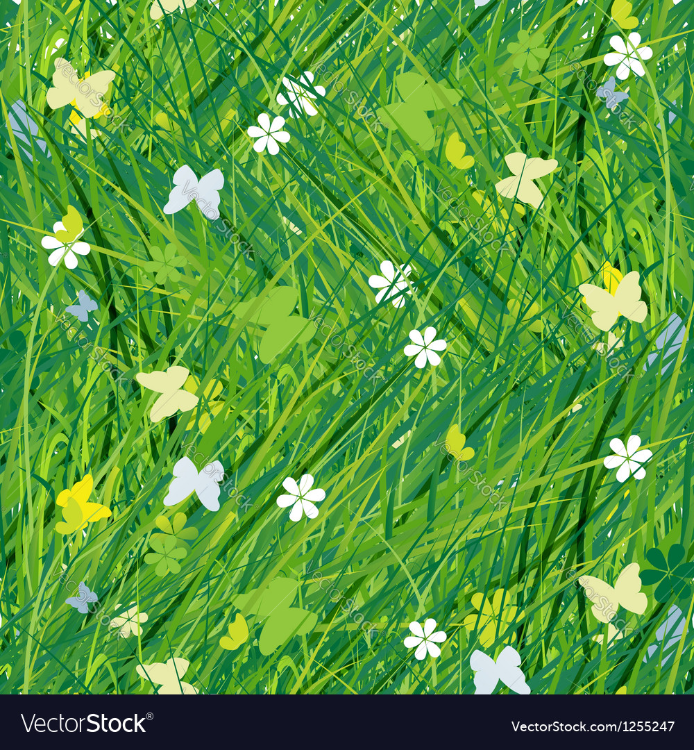 Green meadow seamless pattern for your design