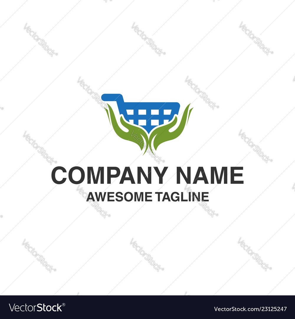 Hand care shop logo shopping care logo logo