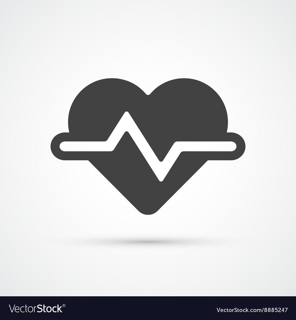 Heartbeat trendy flat icon vector image