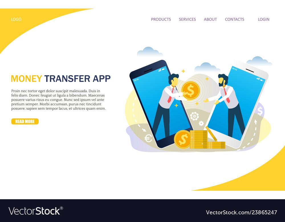 Money Transfer Website Landing Page