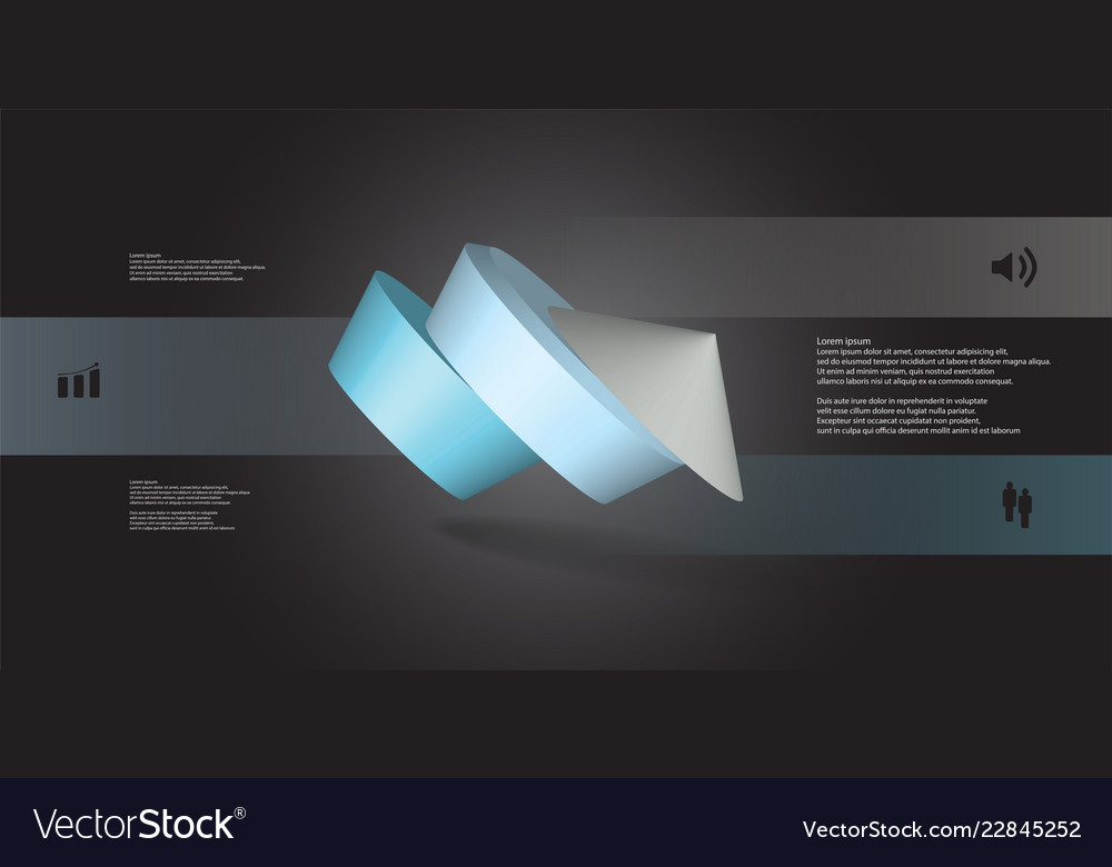 3d infographic template with round pentagon askew