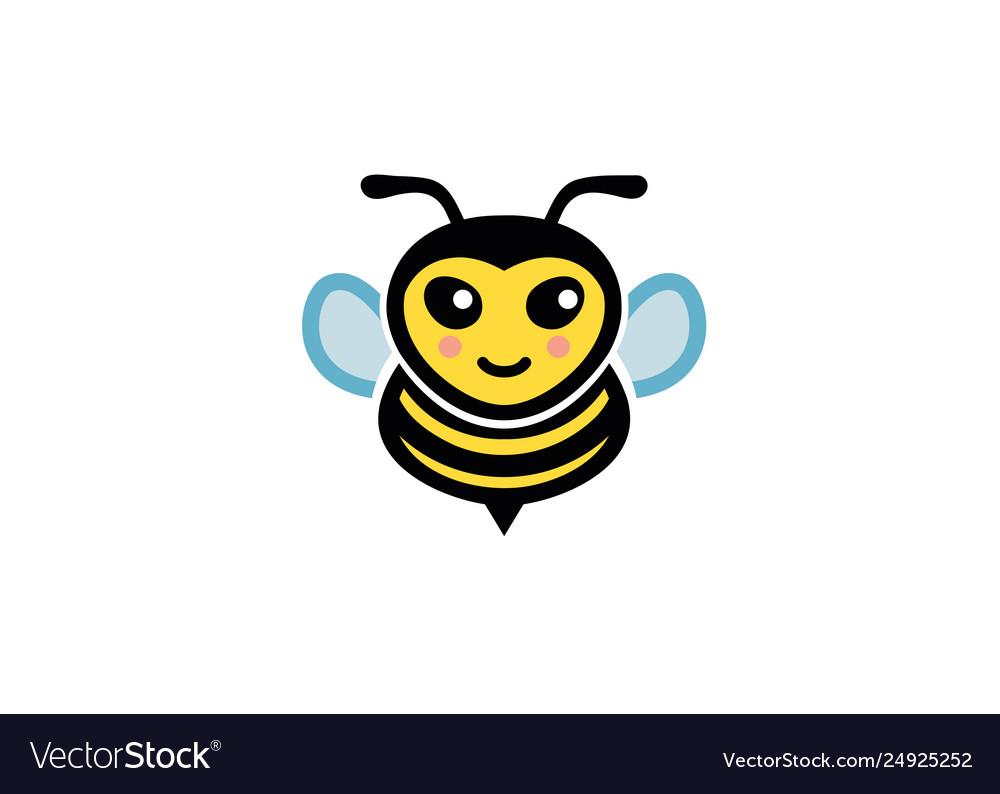 Creative bumble bee logo