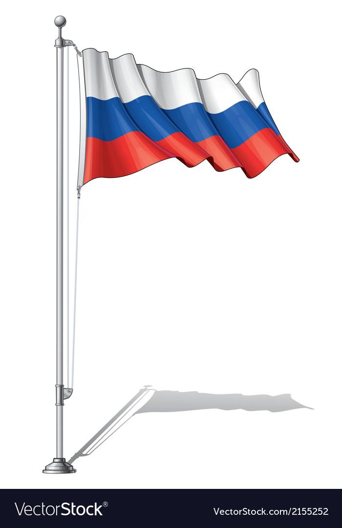 Flag pole russia
