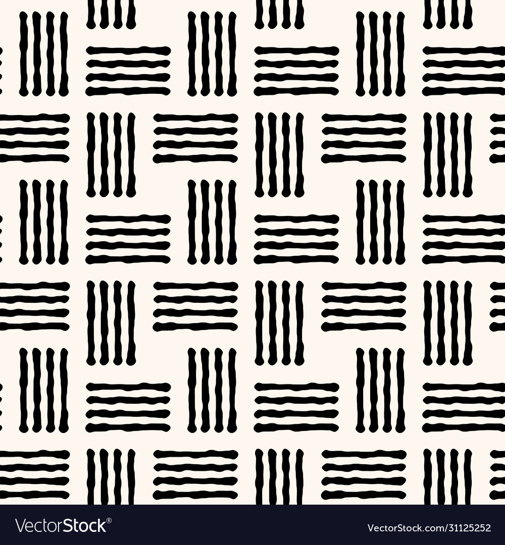 Geometric seamless pattern with abstract handdrawn