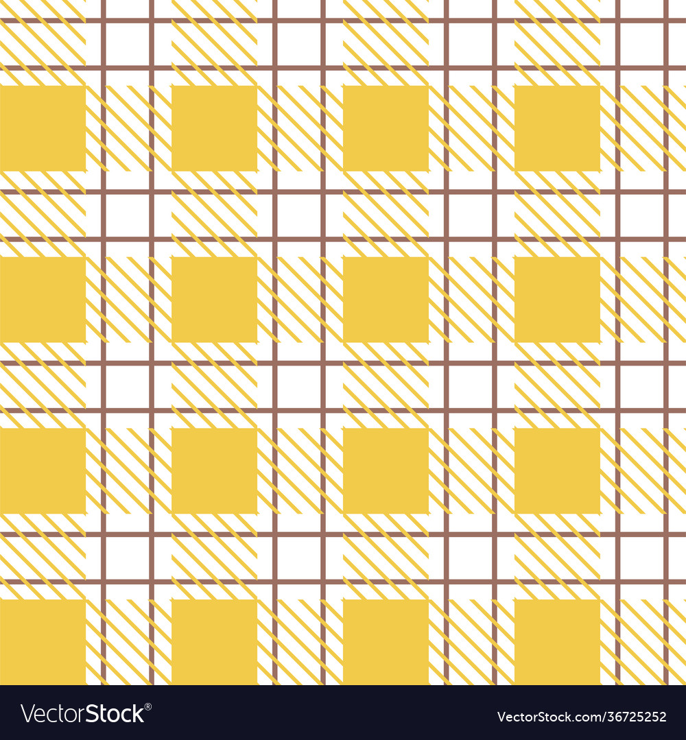 Gingham retro checkered tile pattern for textile